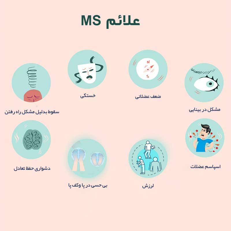 علایم MS