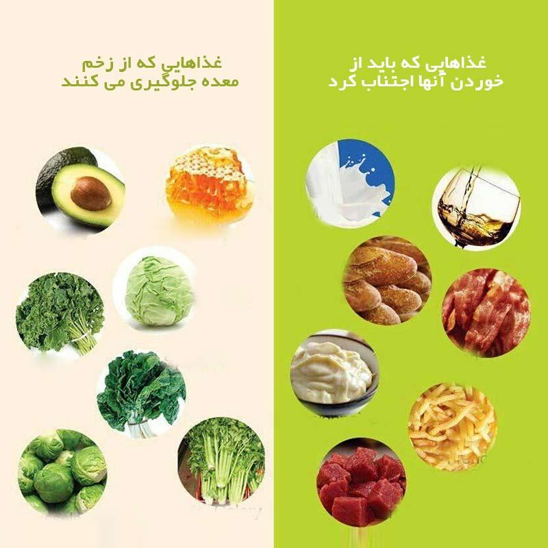 تاثیر رژیم غذایی بر زخم معده